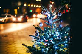 tree fir tree garlands branches balls christmas tree toys lights