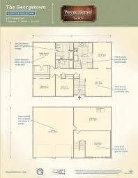 Georgetown Floor Plan Georgetown Wayne Homes
