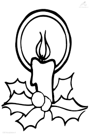 easy christmas candle coloring laptopezine clip art library