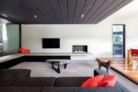 living room belvedere living room features black beadboard ceiling