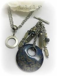 boho pendant necklace images Midnight blue jasper boho chic beaded pendant necklace bead jpg