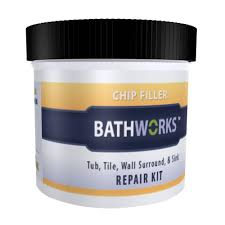 bathworks 3 oz diy bathtub and tile chip repair kit cr 20 the