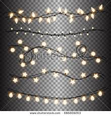 garlands festive decorations glowing christmas lights stock vector