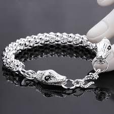 silver bracelet styles images Men 39 s jewelry dragon bracelets bangles 925 sterling silver chains jpg