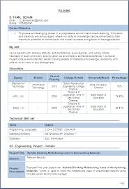 Information Technology Resume Samples by Resume Blog Co Excellent Resume Sample Of A B E Information