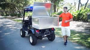 custom utility golf cart cargo box moto electric vehicles youtube