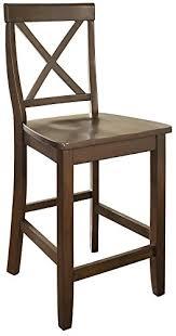 amazon com crosley furniture x back 24 inch bar stool vintage
