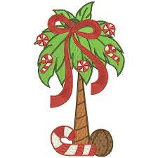 palm tree filled machine embroidery design digitized pattern