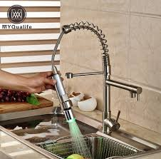 changing a kitchen sink faucet promotion led color changing dual spout kitchen sink faucet