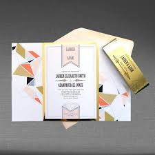 wedding invitations ottawa sample 1 wedding invitation modern geometric with metallic gold
