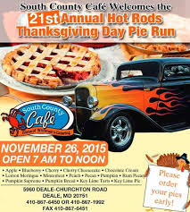 21st annual rods thanksgiving day pie run find car meets
