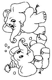 coloring pages elephants animated images gifs pictures
