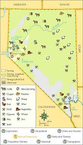 printable map of nevada nevada history nevada history databases topics at las