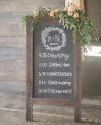 wedding program board wedding chalkboard sign isura ink