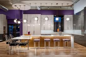 modern kitchen lights industrial glam urban loft large kitchen island and downtown lofts