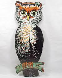 vintage halloween ornaments vintage beistle die cut embossed owl halloween decoration