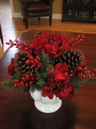 how to make a christmas floral table centerpiece alluring christmas centerpiece idea with red flowers bouquet in