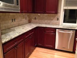 Kitchen Backsplash Ideas With Cherry Cabinets Bar Cabinet - Backsplash for cherry cabinets