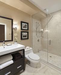 luxurious small apartment bathroom ideas with beige subway tiles