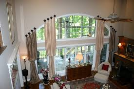 Arched Window Curtain Great Extra Long Curtain Window Treatment For Large Arched Window