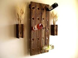 cozy wooden wall mounted wine rack grape vine grapevine wine rack