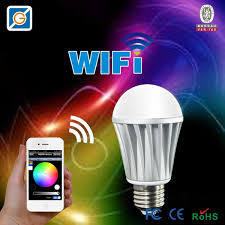 le bureau led magic 7w e27 wifi rgbw led light bulb smart wireless remote