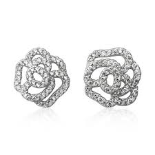 cubic zirconia earrings ez 7069 pavé cubic zirconia earrings teeda