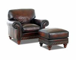 Burgundy Leather Chair And Ottoman Decor Red Leather Leather Club Chair With Wood Legs For Home
