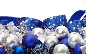 blue and silver ornaments hd wallpaper 1421550