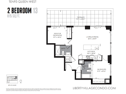 2 Bedroom Condo Floor Plans Ten93 Queen West Pre Construction Condo Liberty Village Condo