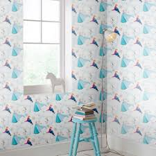 Schlafzimmer Anna Hit Frozen Anna Elsa And Olaf Blue Shimmer Wallpaper Grahambrownde
