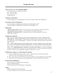 Resume Samples Ultrasound Tech by Radiological Technologist Cover Letter