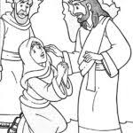 jesus feeds 5000 coloring coloring pages kids collection