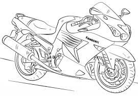 kawasaki motorcycle coloring free printable coloring pages
