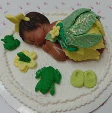 princess tiana baby shower cake topper made of vanilla