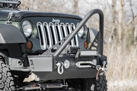 jeep bumper stickers stubby front winch bumper for 07 17 jeep jk wrangler 1054