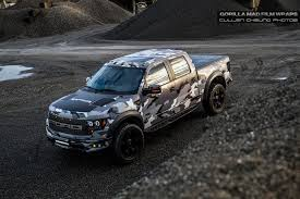 Ford Raptor Grey - gorilla mad film wraps goes urban assault on a ford raptor ford