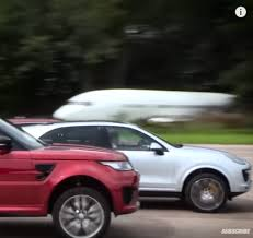 porsche cayenne or range rover sport top gear drag race range rover svr vs jeep srt vs