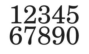 primitive number stencil 3 schoolbook font numbers 0 9