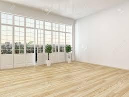 Wohnzimmer Fenster Leeres Wohnzimmer Interieur Mit Parkettboden Und Ein Großes