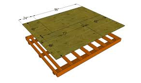 how to build a shed floor howtospecialist how to build step