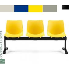 sedute attesa panca attesa 3 sedute 4 colori