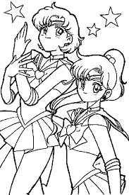 sailor moon coloring pages mercury jupiter coloringstar