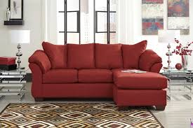 very small sectional sofa decor chic red ashley furniture replacement cushions for