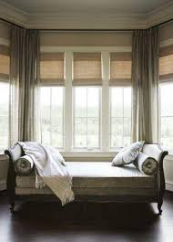 unique curtains bay window design creativity grey curtains bow
