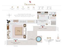 Fishing Cabin Floor Plans by Luxury Glamping Trapper Cabin The Ranch At Rock Creek