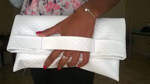 pochette blanche mariage thread needles la communauté couture