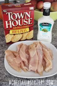 3 ingredient ranch dressing u0026 townhouse cracker chicken fingers