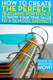 Resume For Teacher Post 8 Teaching Portfolio Essential Elements To Grab Attention
