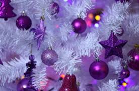 purple tree ornaments pictures reference